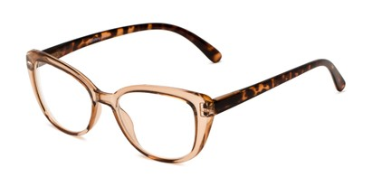 Angle of The Lesley Bifocal in Tan/Tortoise, Women's Cat Eye Reading Glasses