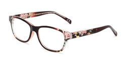 Angle of The Linda in Berry, Women's Rectangle Reading Glasses