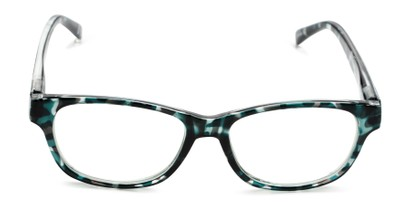 Front of The Linda in Teal/Tortoise