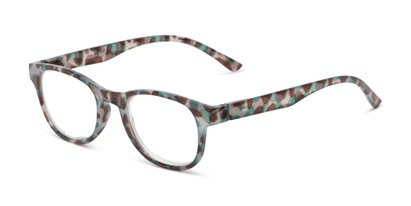 Angle of The Lucy in Green Tortoise, Women's Round Reading Glasses
