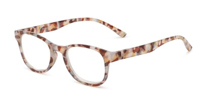 Angle of The Lucy in Orange Multi Tortoise, Women's Round Reading Glasses