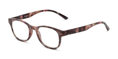 Angle of The Lucy in Purple Tortoise, Women's Round Reading Glasses