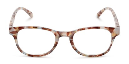 Front of The Lucy in Orange Multi Tortoise
