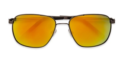 Folded of The Manny Bifocal Reading Sunglasses in Grey with Yellow Mirror