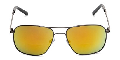 Front of The Manny Bifocal Reading Sunglasses in Grey with Yellow Mirror