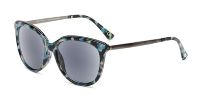 Angle of The Margarita Sun in Blue/Tortoise, Women's Square Reading Sunglasses