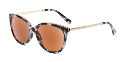 Angle of The Margarita Sun in Tortoise, Women's Square Reading Sunglasses