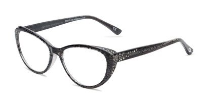 Angle of The Marisol in Grey/Snake, Women's Cat Eye Reading Glasses