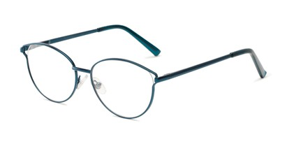 Angle of The Maureen Bifocal in Blue, Women's Cat Eye Reading Glasses