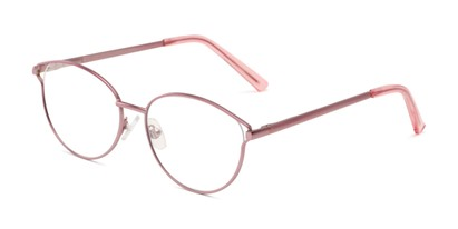 Angle of The Maureen Bifocal in Pink, Women's Cat Eye Reading Glasses