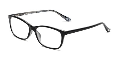 Angle of The Rachel in Black/White, Women's Square Reading Glasses