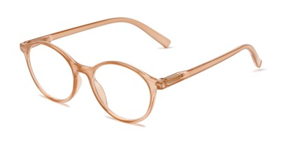 Angle of The Sammy in Light Brown, Women's Round Reading Glasses
