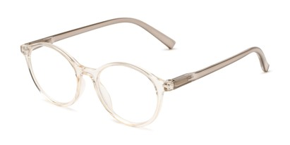 Angle of The Sammy in Clear, Women's Round Reading Glasses