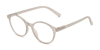 Angle of The Sammy in Light Grey, Women's Round Reading Glasses