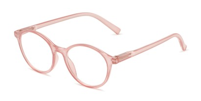 Angle of The Sammy in Light Pink, Women's Round Reading Glasses