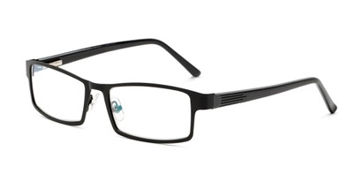 Angle of The Sawyer Multi Focus Reader by Foster Grant in Black, Men's Rectangle Reading Glasses