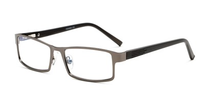 Angle of The Sawyer Multi Focus Reader by Foster Grant in Gunmetal Grey, Men's Rectangle Reading Glasses