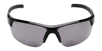Front of The Shade Bifocal Safety Reading Sunglasses in Black with Smoke Lenses
