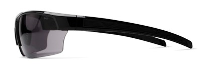 Side of The Shade Bifocal Safety Reading Sunglasses in Black with Smoke Lenses