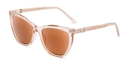 Angle of The Sofia Sun in Blush, Women's Cat Eye Reading Sunglasses