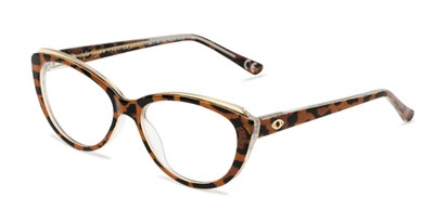Angle of The Sofia in Leopard, Women's Cat Eye Reading Glasses