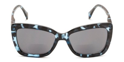 Front of The Stacey Bifocal Reading Sunglasses in Blue Tortoise/ Smoke