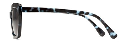 Side of The Stacey Bifocal Reading Sunglasses in Blue Tortoise/ Smoke