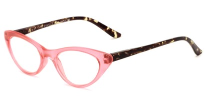 Angle of The Stella in Pink/Tortoise, Women's Cat Eye Reading Glasses