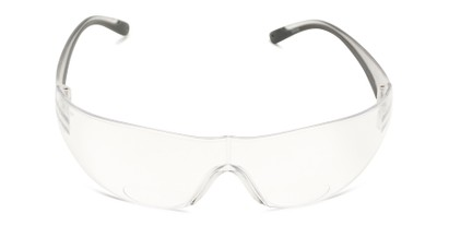 Front of The Stratus Bifocal Safety Reader in Clear/Grey with Clear Lens