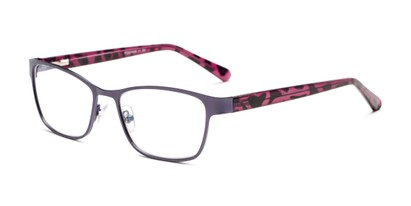 Angle of The Tierney Multi Focus Reader by Foster Grant in Purple, Women's Cat Eye Reading Glasses