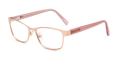 Angle of The Tierney Multi Focus Reader by Foster Grant in Rose Gold, Women's Cat Eye Reading Glasses