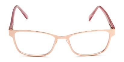 Front of The Tierney Multi Focus Reader by Foster Grant in Rose Gold