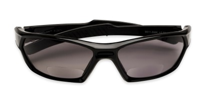 Folded of The Tinted Bifocal Safety Goggles in Black with Smoke Lenses