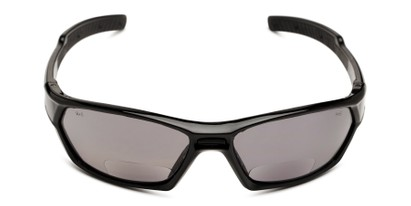 Front of The Tinted Bifocal Safety Goggles in Black with Smoke Lenses