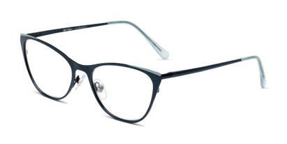 Angle of The Victoria in Blue, Women's Cat Eye Reading Glasses