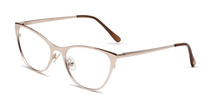 Angle of The Victoria in Gold, Women's Cat Eye Reading Glasses