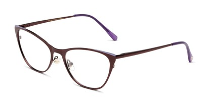 Angle of The Victoria in Wine, Women's Cat Eye Reading Glasses
