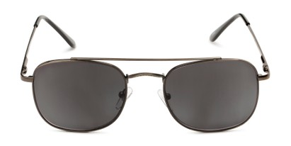 Front of The Whitford Reading Sunglasses in Matte Dark Silver with Smoke