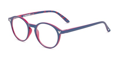 Angle of The Wonder in Navy Blue/ Red, Minnie Mouse Print, Women's and Men's Round Reading Glasses