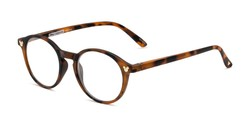 Angle of The Wonder in Matte Brown Tortoise, Women's and Men's Round Reading Glasses