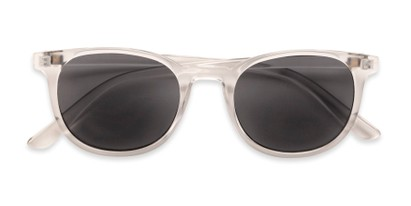 Folded of The Woodstock Reading Sunglasses in Clear with Smoke