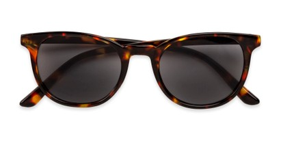 Folded of The Woodstock Reading Sunglasses in Brown Tortoise with Smoke