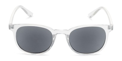 Front of The Woodstock Reading Sunglasses in Clear with Smoke