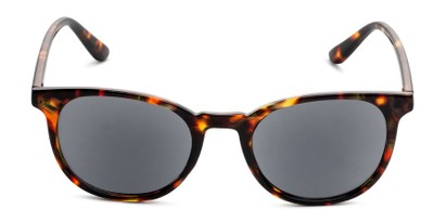 Front of The Woodstock Reading Sunglasses in Brown Tortoise with Smoke