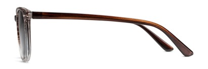 Side of The Woodstock Reading Sunglasses in Brown/Clear Stripe Fade with Smoke