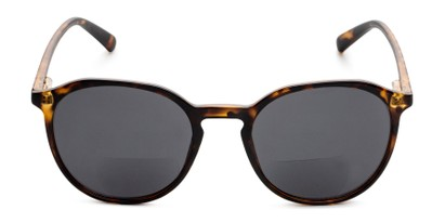 Front of The Wyatt Bifocal Reading Sunglasses in Brown Tortoise with Smoke Lenses