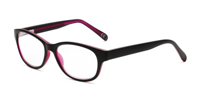 Angle of The Zera Multi Focus Reader by Foster Grant in Black, Women's Cat Eye Reading Glasses