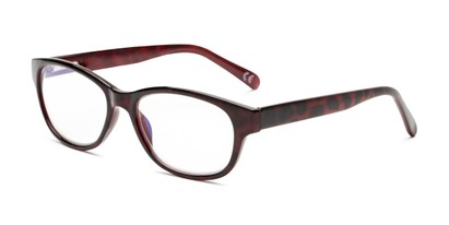 Angle of The Zera Multi Focus Reader by Foster Grant in Wine, Women's Cat Eye Reading Glasses