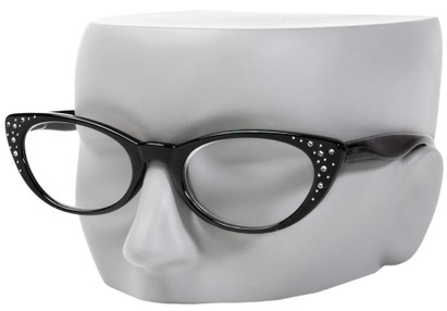 Cat Eye Rhinestone Reading Glasses