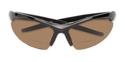 Folded of The Radley Polarized Bifocal Reading Sunglasses in Black with Amber